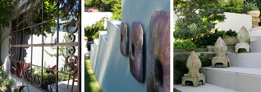Using artwork in your garden designs in Sydney