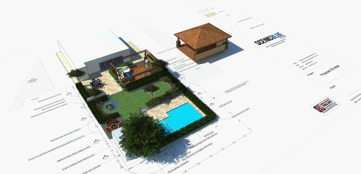 3D CAD Landscape Design Ashfield Sydney
