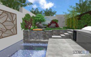 3D rendering landscape design Sydney Scenic Blue Design