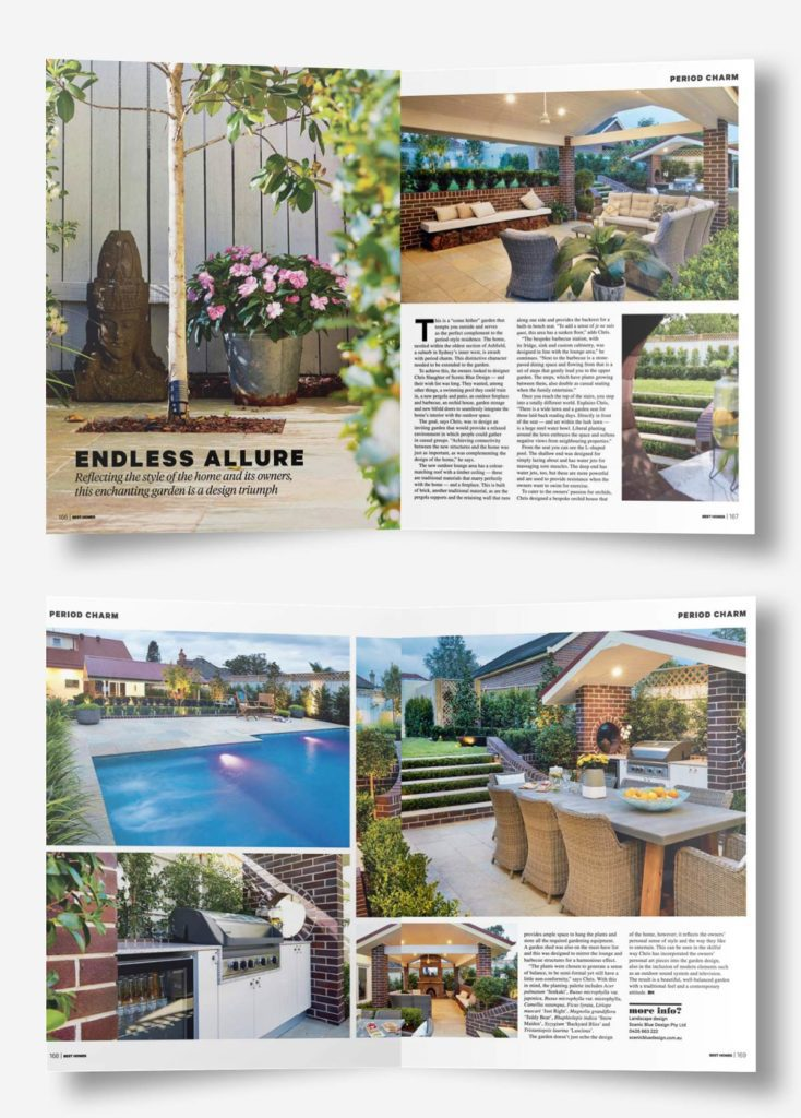Featured in Best Homes for Landscape Design